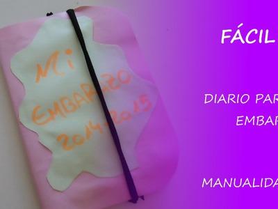 Cómo hacer un diario para el embarazo con scrapbook - Fácil DIY