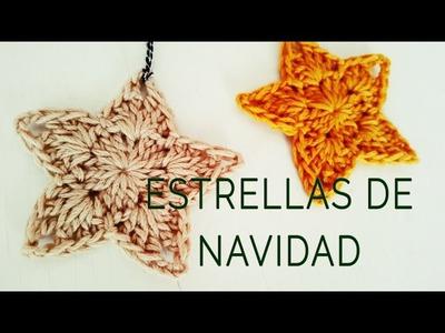 Cómo tejer estrellas de Navidad (ft Ahuyama Crochet)