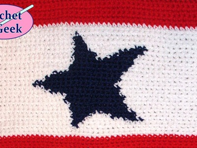Crochet Blue Star Service Flag Tapestry Crochet Geek