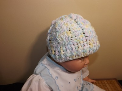 Crochet Cable Baby Hat