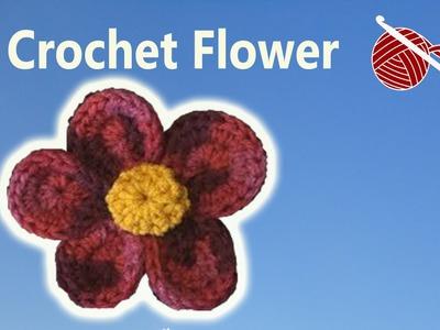 Crochet Flower Julia - Left Hand Version - Crochet Geek Crochet Geek