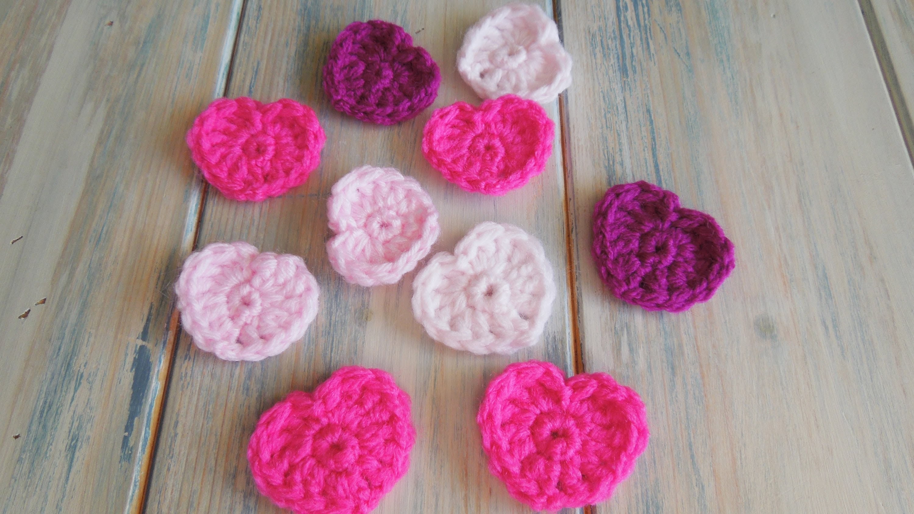 (crochet) How To - Crochet a Simple Heart v2 - no magic circle!