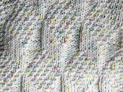 Diamond and Lozenge Dishcloth Knit Along  Part Four
