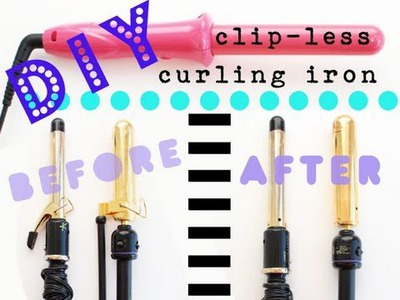 DIY Beauty: How to Make A Clipless Curling Iron | Kandee Johnson
