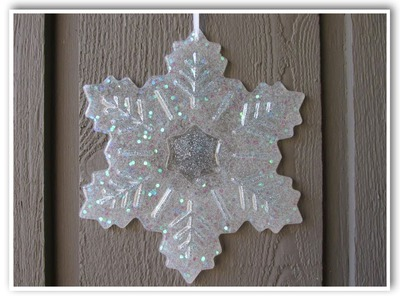 DIY Big Glitter Snowflake Craft How To