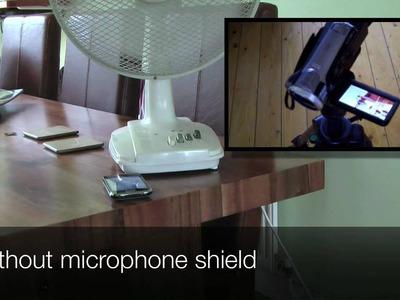 DIY Camcorder Microphone Wind Shield