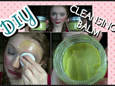DIY Cleansing Balm.Makeup Remover + Demo