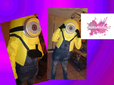 DIY. Como hacer un disfraz de MINION.How to make a Minion costume.