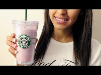 DIY Cotton Candy Frappuccino