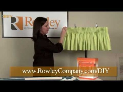 DIY -- Easy Pencil Pleat Valance
