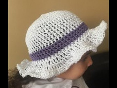 DIY how to crochet an Easter or spring hat