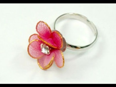 DIY - How to Make Nylon Flower Fashion Ring