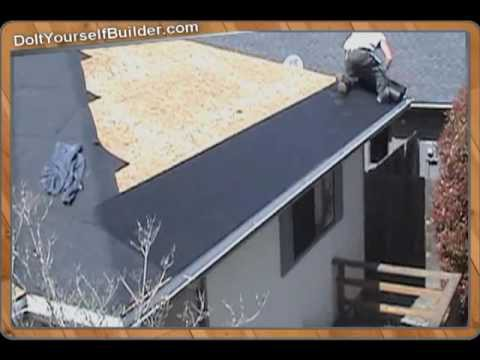 DIY- How To Roof A House- Section 3 of 6 Installing Felt Paper.