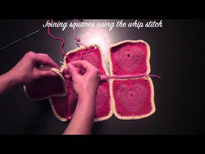 DIY Joining Crochet Squares Part 2
