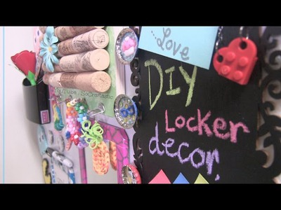 DIY Locker Decor - Cork Board How To - Decorate with Duct Tape & More for Back to School