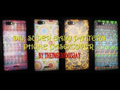 DIY: Super Easy Pattern Phone Case.Cover Tutorial