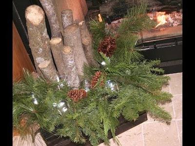 DIY: Winter Fireplace Decor