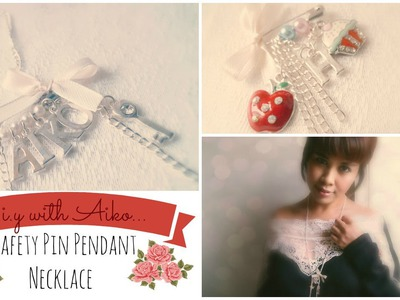 Fashion DIY : Safety Pin Pendant Necklace Tutorial