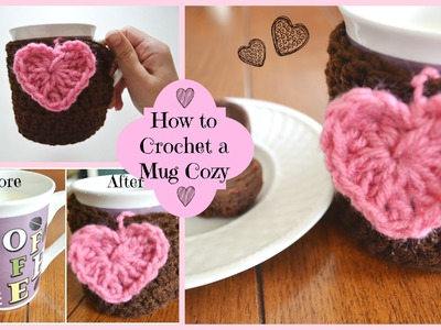 How to Crochet a Cute Mug Cozy! | Ms. Craft Nerd