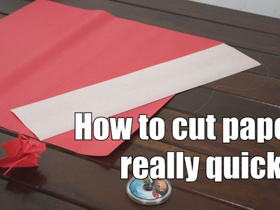 How to cut paper really quickly - Origami Tip #3