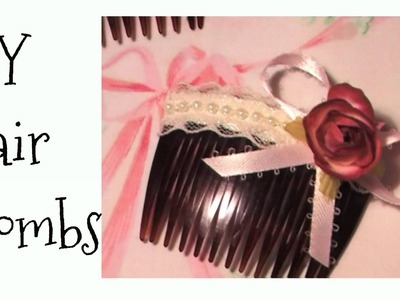 How to: DIY SHABBY CHIC Style Hair Clips, Combs, Hair Accessories, Gift Ideas