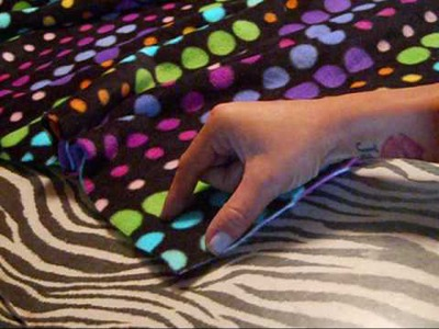 How to easy no sewing diy blanket