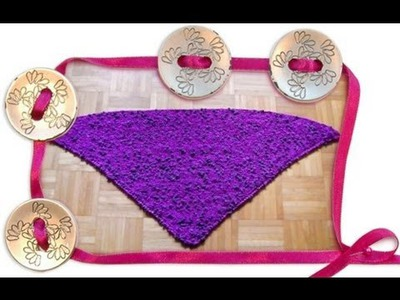 How to knit a triangle shawl shoulder scarf