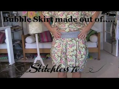 HOW TO MAKE A BUBBLE SKIRT  - easy sewing tutorial