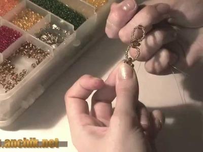 Как сделать колье из бисера. How to make a necklace of beads