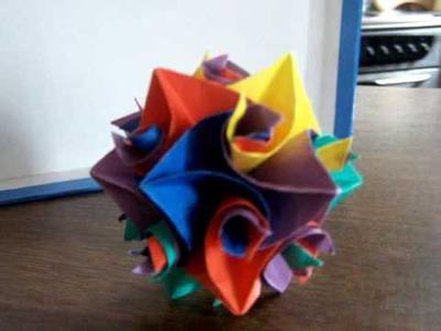 Kolorowe Kule kusudama origami