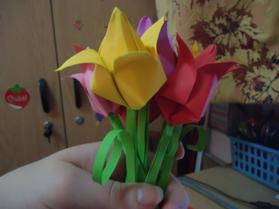 Lalea (tulip) origami tutorial
