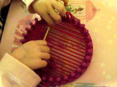 Loom knitting krosno dziewiarskie tkanie