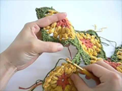Marigold Crochet Bag Video Tutorial 3 - How to Join Crochet Squares