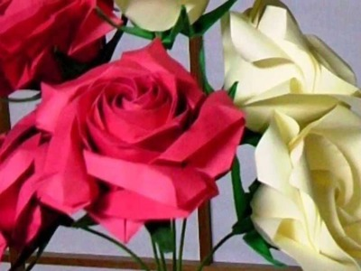 ORIGAMI Flowers Rose Picture