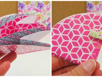 Origami Karte DIY. Karte zum Ausklappen gestalten. Grußkarte Origami Anleitung deutsch