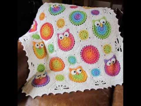 Owl Obsession Blanket Crochet Pattern Presentation
