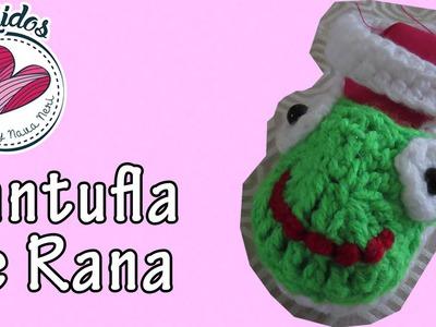Pantufla de rana a crochet TUTORIAL