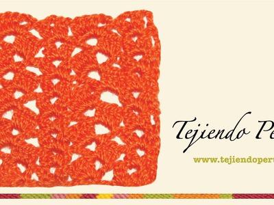 Punto fantasía en crochet # 22: abanicos y piñas!