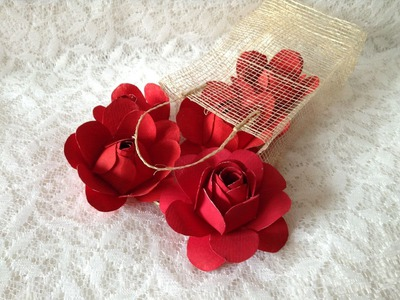 Quick DIY Idea: How to Make Easy Paper Roses Full Tutorial ดอกกุหลาบกระดาษ
