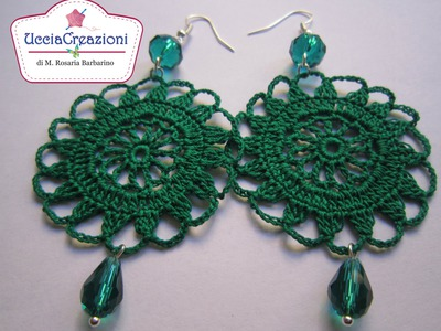 TUTORIAL 2 . * ORECCHINI TONDI  ALL' UNCINETTO * HOW TO do EARRINGS CROCHET