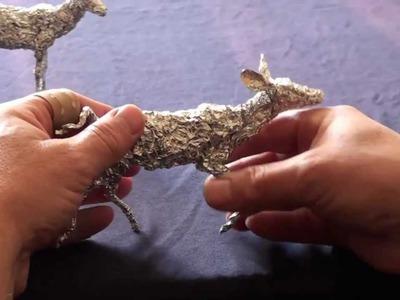 Tutorial - Alufolie modellieren, Aluminiumfoil sculpturing, Tin foil crafts