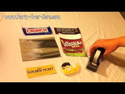 Wonka Bar and Willy Wonka Golden Ticket, Wrapping Instructions