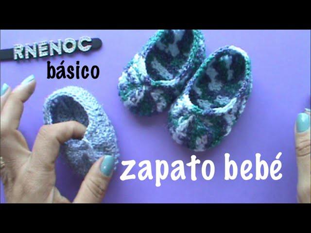 ZAPATO PARA BEBE BASICO PUNTO ALTO, #GANCHILLO #CROCHET