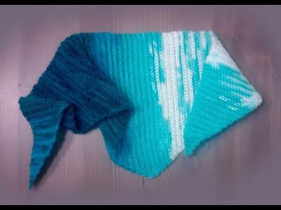1 Шарф Бактус крючком Мужской Женский Crochet triangle scarf