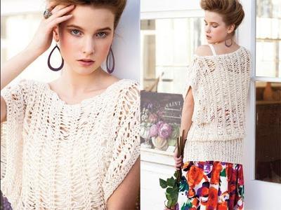 #26 Open Stitch Dolman Top, Vogue Knitting Spring.Summer 2013
