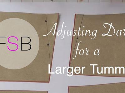Adjusting Darts for a Larger Tummy