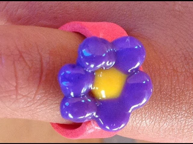 Anillo con cuentas derretidas. Melted beads ring