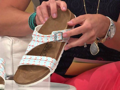 Birki's by Birkenstock Nautical Print Multi-Strap Sandals with Stacey Stauffer