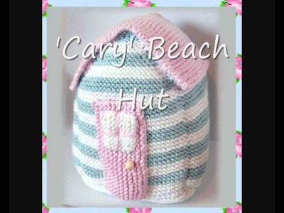 Cary Beach Hut Folk Art Country Cottage Door Stop or Soft Squishy Toy Aran Knitting Pattern