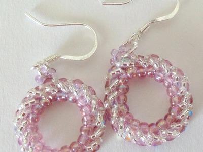 Circular Herringbone Earrings-Beginner Tutorial